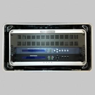 VCO2402 DVBS2 Modulator + VCO3411 H264 Encoder in Fly Case