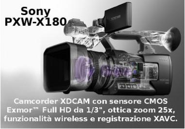 PXW-X180 Camcorder XDCAM con sensore CMOS Exmor Full HD