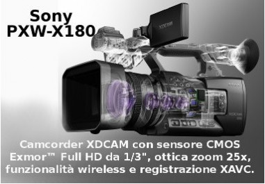 PXW-X180 XDCAM Camcorder with CMOS Exmor Full HD Sensor